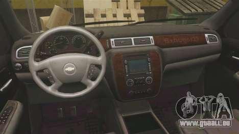 Chevrolet Suburban Slicktop 2008 [ELS] für GTA 4 Rückansicht