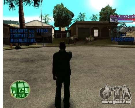 Avec Diamond-HUD RP pour GTA San Andreas deuxième écran