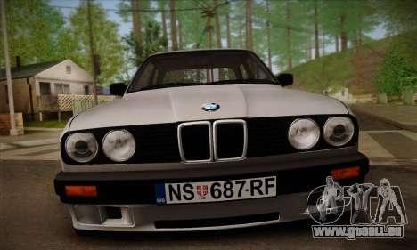 BMW M3 E30 für GTA San Andreas Unteransicht