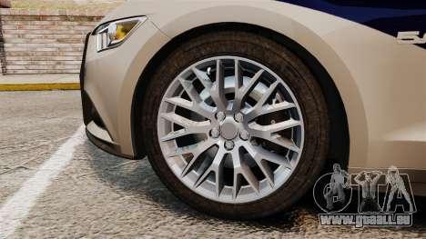 Ford Mustang GT 2015 Cheng Guan Police pour GTA 4 Vue arrière