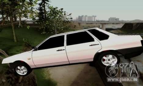 VAZ 21099 Hobo pour GTA San Andreas vue intérieure