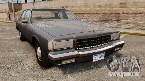 Chevrolet Caprice 1989 v2.0 pour GTA 4