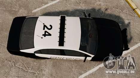 GTA V Vapid Steelport Police Interceptor [ELS] für GTA 4 rechte Ansicht