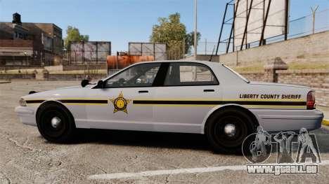 GTA V Vapid Police Cruiser Scheriff [ELS] pour GTA 4 est une gauche