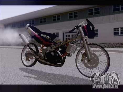 Suzuki Satria FU pour GTA San Andreas laissé vue