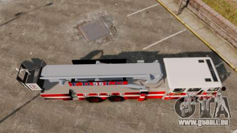 MTL Firetruck Tower Ladder FDLC [ELS-EPM] für GTA 4 rechte Ansicht