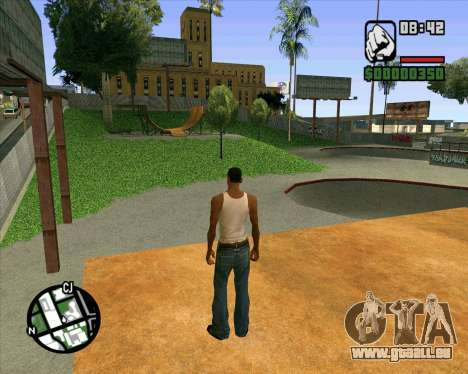 Nouveau HD Skate Park pour GTA San Andreas neuvième écran