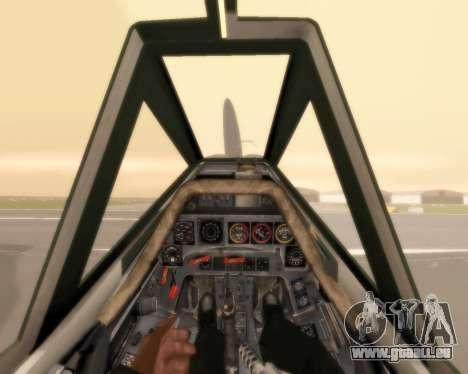 Focke-Wulf FW-190 F-8 für GTA San Andreas obere Ansicht
