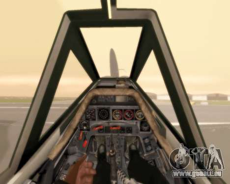 Focke-Wulf FW-190 F-8 pour GTA San Andreas vue de dessus