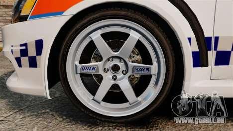 Mitsubishi Lancer Evo X Humberside Police [ELS] für GTA 4 Rückansicht
