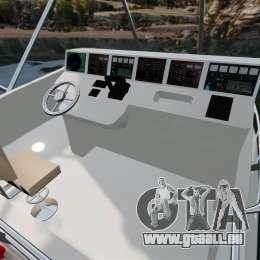 Sport fishing yacht pour GTA 4 est une vue de l'intérieur