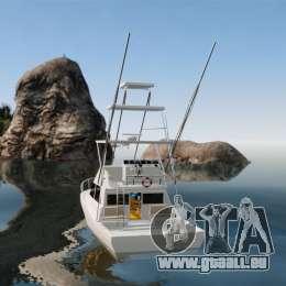 Sport fishing yacht für GTA 4 hinten links Ansicht