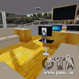 Sport fishing yacht für GTA 4 Rückansicht