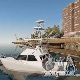 Sport fishing yacht für GTA 4 linke Ansicht