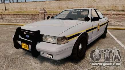 GTA V Vapid Police Cruiser Scheriff [ELS] für GTA 4