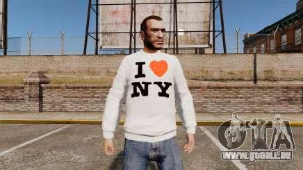 Pullover-ich liebe New York für GTA 4
