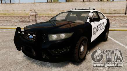 GTA V Vapid Steelport Police Interceptor [ELS] pour GTA 4
