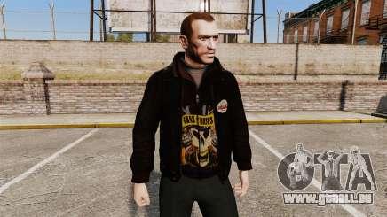 Veste en cuir-Guns N Roses- pour GTA 4