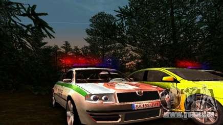 Skoda Superb POLICIE pour GTA San Andreas
