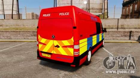 Mercedes-Benz Sprinter 313 CDI Police [ELS] pour GTA 4 Vue arrière de la gauche