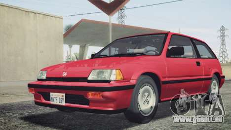 Honda Civic Si 1986 HQLM für GTA San Andreas Rückansicht