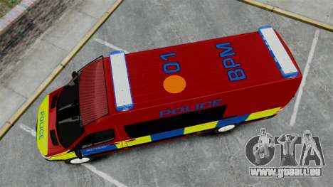Mercedes-Benz Sprinter 313 CDI Police [ELS] pour GTA 4 est un droit