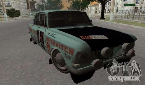 Moskvitch 412 Rallye pour GTA San Andreas laissé vue