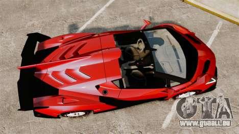 Lamborghini Veneno Roadster LP750-4 2014 für GTA 4 rechte Ansicht