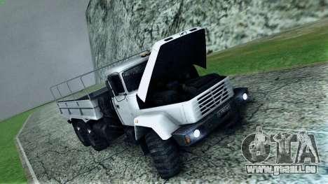 Kraz 6322 pour GTA San Andreas vue de dessus
