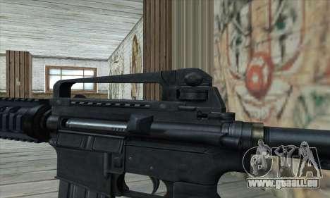 M4 RIS Carbine pour GTA San Andreas troisième écran