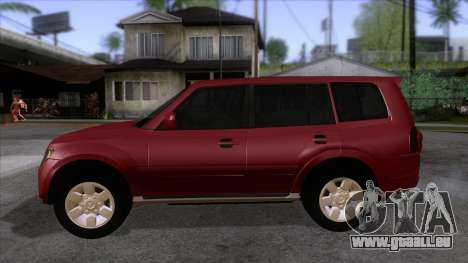 Mitsubishii Pajero IV für GTA San Andreas linke Ansicht