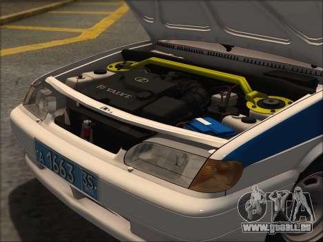 VAZ 2114 Police DPS pour GTA San Andreas sur la vue arrière gauche