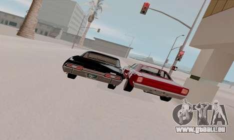 Plymouth Road Runner 383 1969 für GTA San Andreas Unteransicht