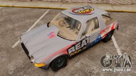 AMC Pacer für GTA 4 Innenansicht