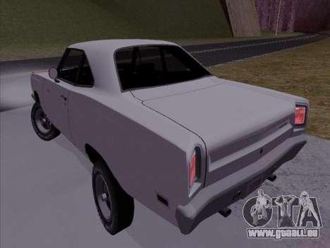 Plymouth Road Runner 383 1969 pour GTA San Andreas laissé vue