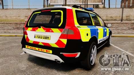 Volvo XC70 2014 Police [ELS] pour GTA 4 Vue arrière de la gauche
