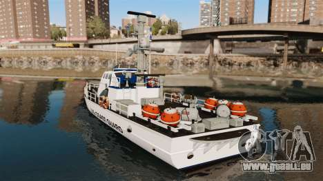 Канонерская bateau U.S. Coastguard pour GTA 4 Vue arrière de la gauche