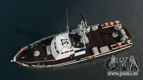 Канонерская Boot U.S. Coastguard für GTA 4 rechte Ansicht