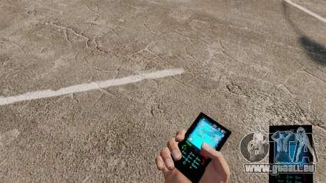Le thème pour téléphone Bleu Aqua v2.0 pour GTA 4