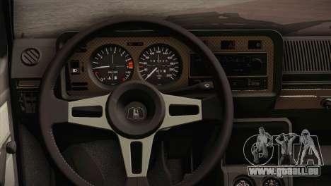 Volkswagen Golf MK1 Red Vintage für GTA San Andreas Rückansicht