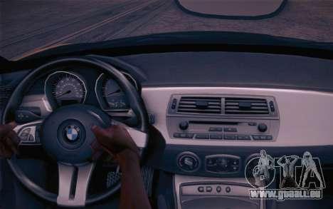 BMW Z4 V10 Stanced für GTA San Andreas Rückansicht