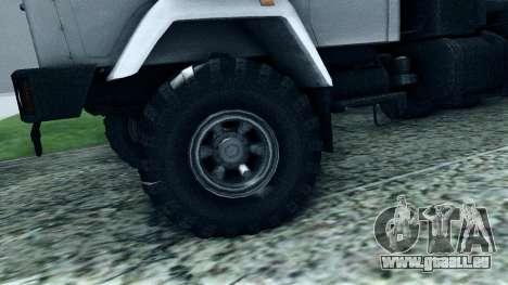 Kraz 6322 pour GTA San Andreas vue de côté