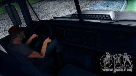Kraz 6322 pour GTA San Andreas vue intérieure