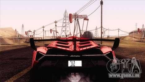 Lamborghini Veneno Roadster LP750-4 2014 für GTA San Andreas rechten Ansicht