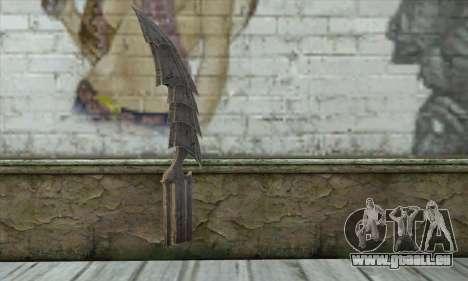 Couteau pour GTA San Andreas deuxième écran