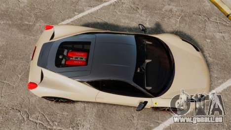 Ferrari 458 Italia 2011 für GTA 4 rechte Ansicht