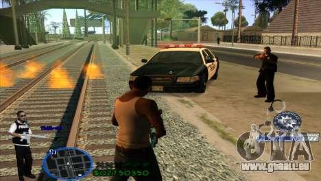 C-HUD Police pour GTA San Andreas troisième écran