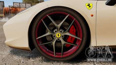 Ferrari 458 Italia 2011 für GTA 4 Rückansicht