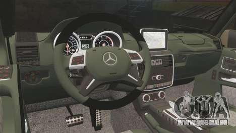 Mercedes-Benz G65 (W463) 2012 AMG pour GTA 4 est une vue de l'intérieur