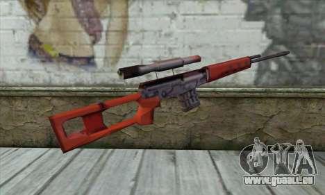 SVD Fusil de Sniper pour GTA San Andreas deuxième écran